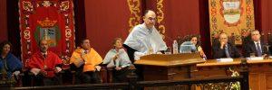 José Ángel Achón, en la lectura de la lección inaugural del acto de apertura del curso académico 2014-2015 de la Unviersidad de Deusto.