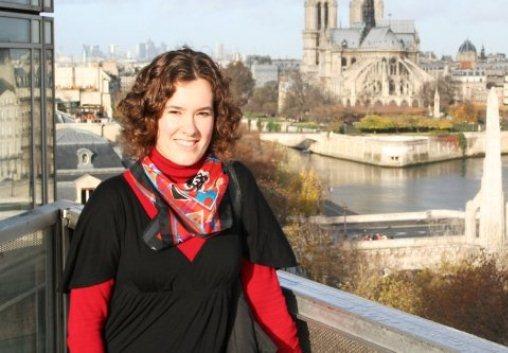 La donostiarra Amaia García en Paris, el año pasado