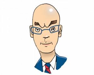 Caricatura de Jose Ituarte. Autor: EITB